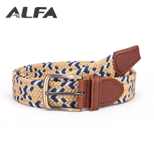 Alfa 2018 New Design Product Man Fabric Braided Stretch Elastic Belt Without Holes