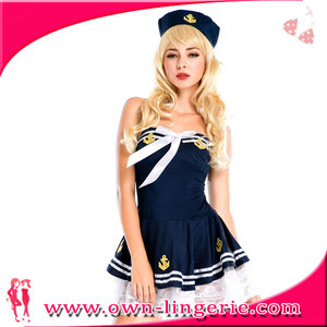 Nightclub uniform DS costumes sexy female air force party airline stewardess uniforms skirt OL occupation dancer