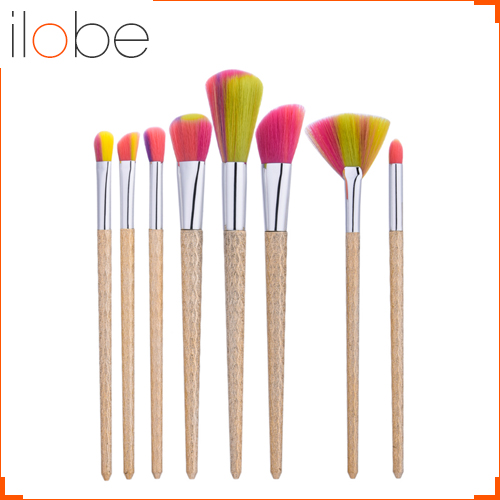 GUJHUI new 8pcs champagne gold makeup brush brush wave pattern <strong>handle</strong> bright hair