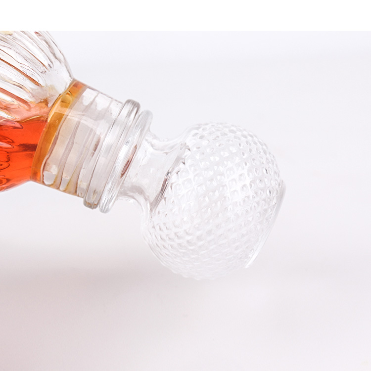 50ml crystal clear glass bottle with glass stopper for wine