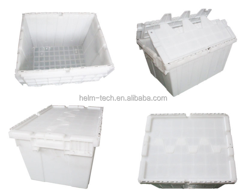 Plastic logistic stackable tote box