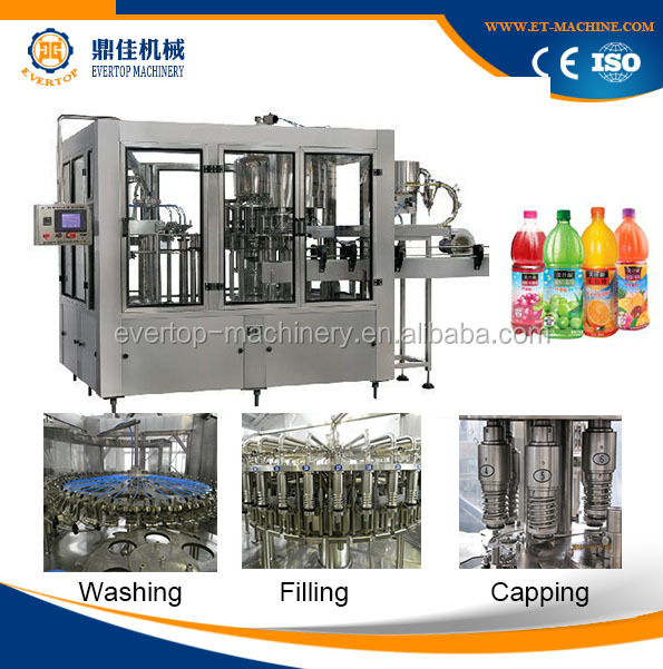 New Model 8000BPH Juice Filling Machine / Production Lin