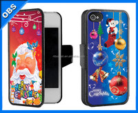 2014 new design 3D effect mobile phone case with flip pattern(OBS-PG-3D1006)