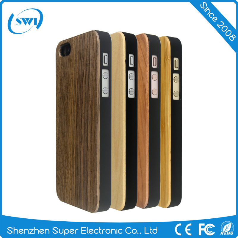 New custom design Wooden back cover case for iphone 5