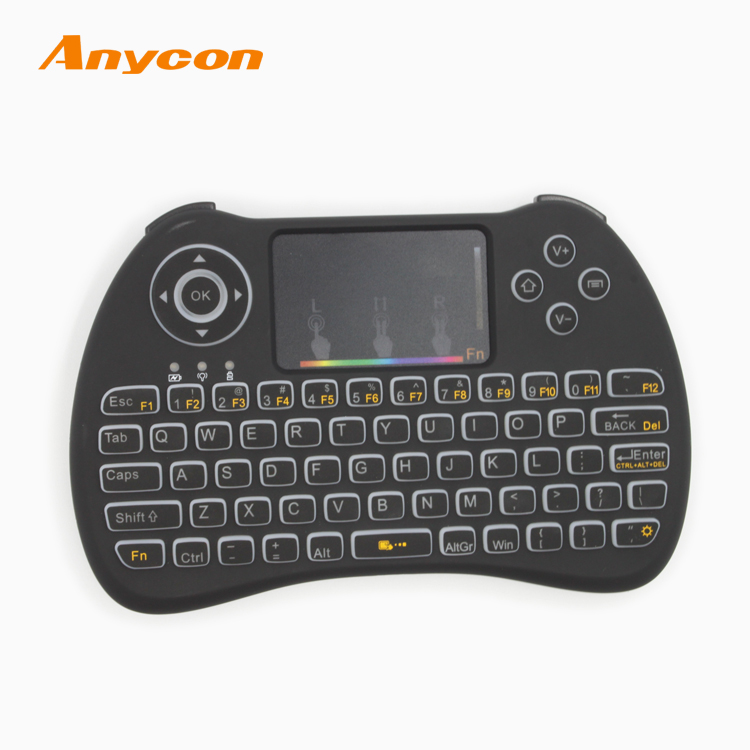 Popular Customized keyboard mouse wireless remote, 2.4ghz mini wireless keyboard with touchpad mouse, led wireless keyboard