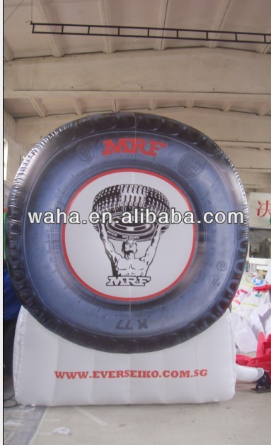 Advertising inflatable tyre mascot /cartoon /model