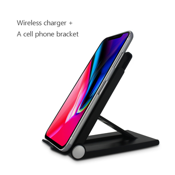 2018 trend product hot selling Multifunction fast wireless charger qi, foldable phone stand for iphone