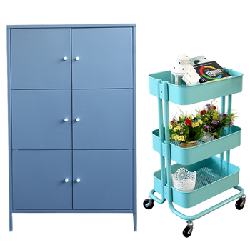Cheap kitchen 4 wheels trolley