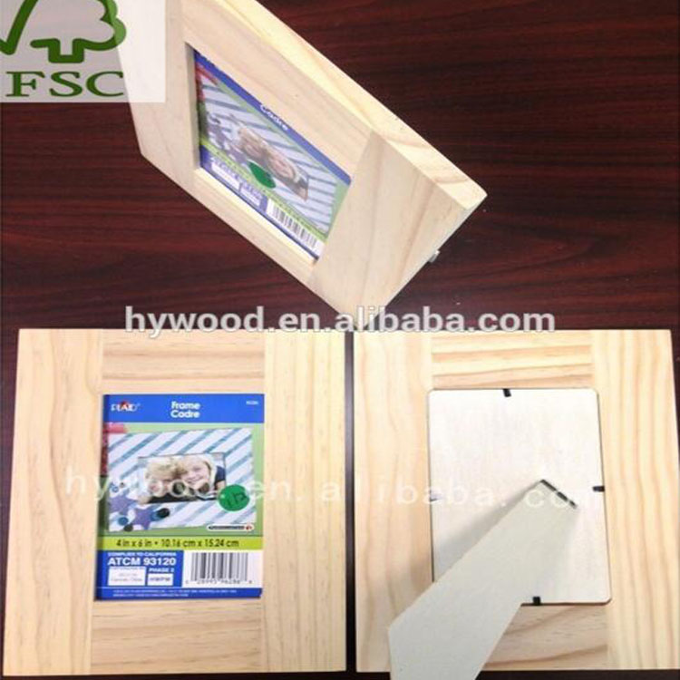 Standing Unfinished Cheap Solid Wood Photo Frame Wholesale