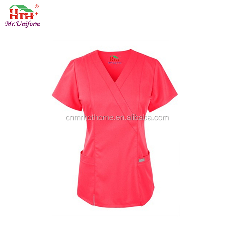 OEM Service High Quality 100% cotton Hospital Medical Scrubs for women/men
