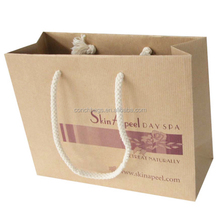 Custom Luxury Window Packaging Gift Tea Greaseproof Carry Brown Handle Christmas White Paper Bag