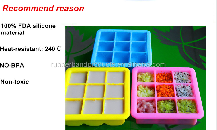 High Quality Custom Silicone Ice Cube Tray with Lid, Personalized Ice Cube Tray Moulds
