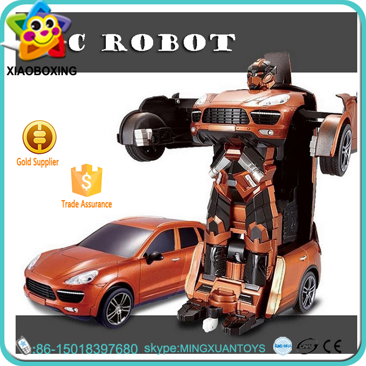 One key restoration 12v rc car battery deformation robot toy for promotion