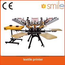 6 color 6 station T shirt Carousel Screen Printing Machine price