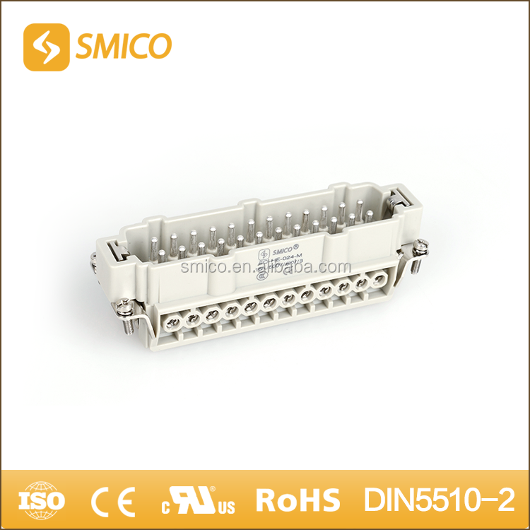 Industrial multipole connector for wind energy similar Harting modular HE-024 heavy duty quick connector