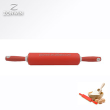 Item F3-029 Rolling Pin, FDA Approved Food Grade Silicone Rolling Pin Kitchen Utensils for Baking Pin Handle for Rolling Dough