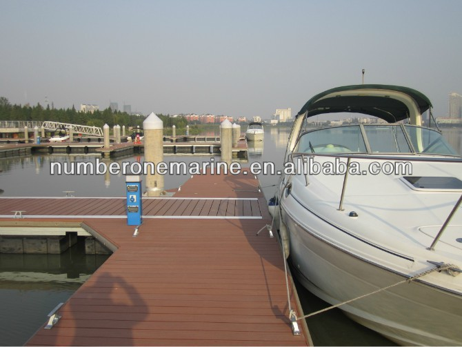 marine plastic water floating pontoon bridge for sale