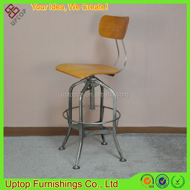 (SP-MC086) Factory Price retro Toledo adjustable industrial metal bar stool