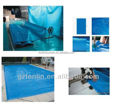 Outdoor swimming pool cover blue color vinyl piscinas liners water pool cover
