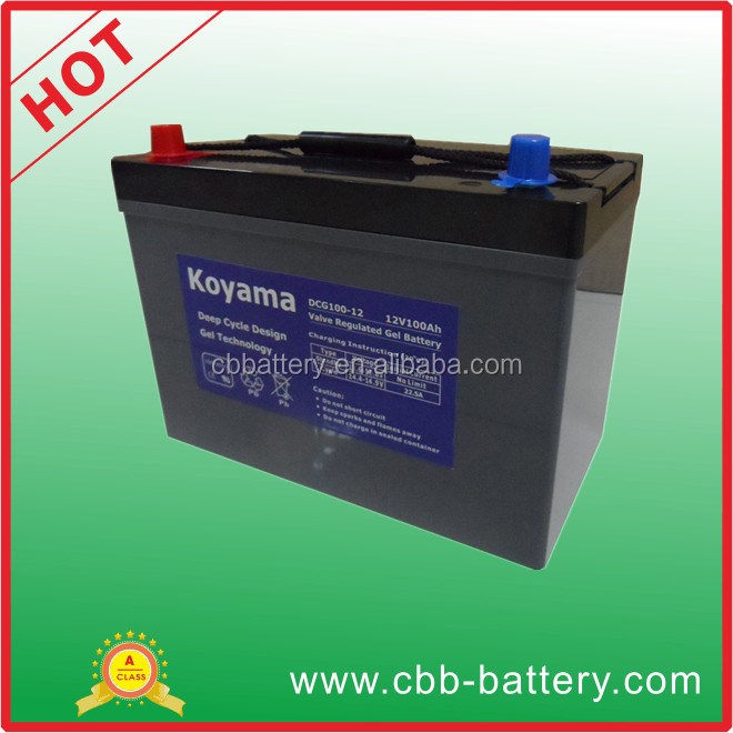 New design automotive terminal deep cycle battery for electric boats
