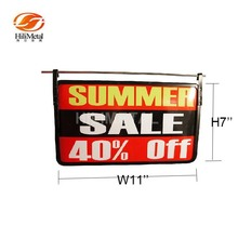 Hanging Frame Metal Sign Holder for Supermarket Wire Poster Display Stand