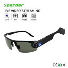 Wireless Live Video Stream Wifi 720P Safety Camera glasses with Mobile APP Remote Control