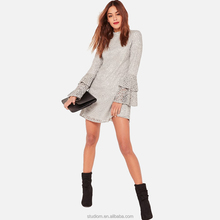 Western Winter latest dress patterns women clothing & ladies long sleeve design dress