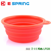 Pet Products silicone Bowl pet folding portable dog bowls wholesale for food the dog drinking water pet bowl