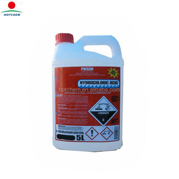 Swimming Pool Water treatment chemical 31% min Hydrochloric Acid