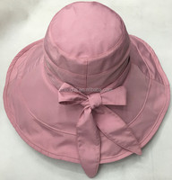 Wholesale Ladies Summer wide-brimmed folding sun visor hat/cloth cap