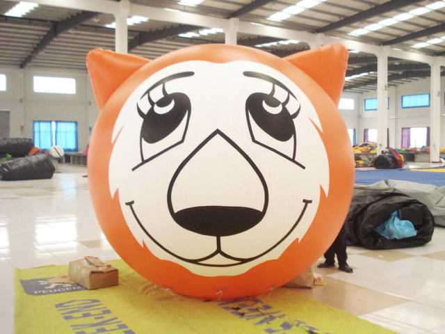 inflatable tiger balloon/Hot Selling Advertising outdoor inflatable helium air Balloon Flying Inflatable Balloon For Advertising