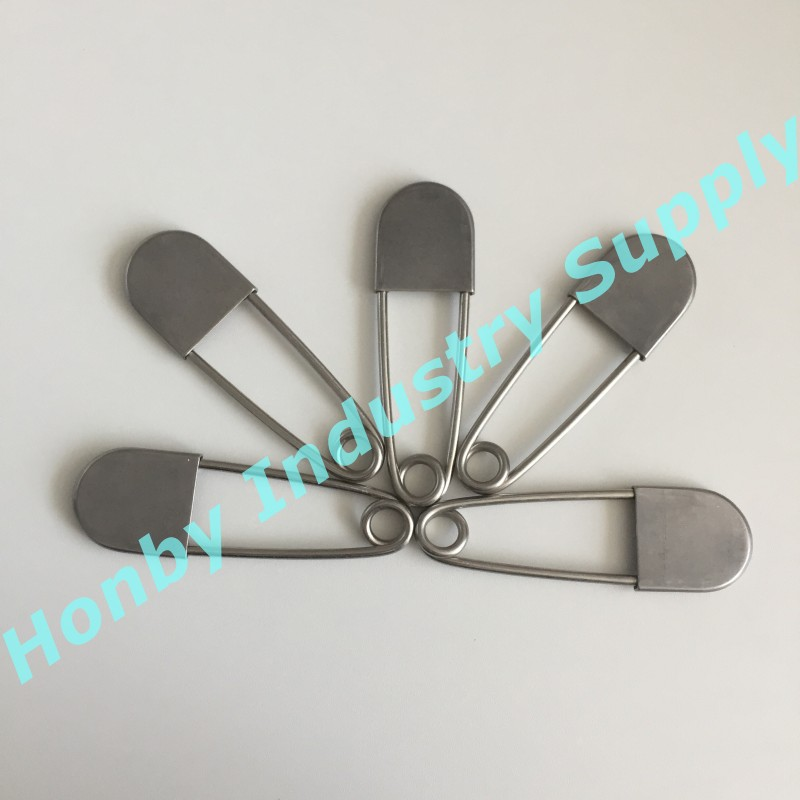Fasteners Suppliers 90mm Silver Color Metal Laundry Fastener Pin For Bag Holding