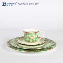 Classic Green eco-friendly Bone china Royal Popular ceramic dinnerwares