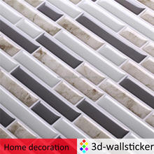 "T80109 11"" x 9.25"" oblong smart wall tile instant adhesive wall sticker peel and stick backsplash"