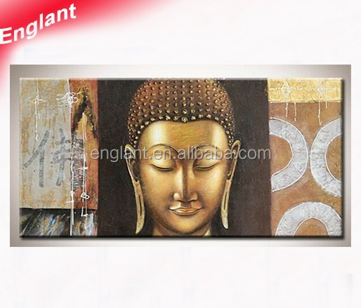 Hand painted buddha painting on canvas