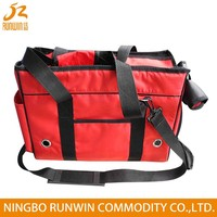 SGS Certification Red 1680D airline pet sling carrier