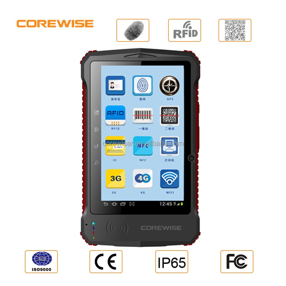 Android 4G LTE tablet pc,HF UHF,fingerprint,barcode scanner,gps,wifi,bluetooth,cameras,android tablet with rfid reader