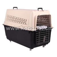 Hot sale big American style plastic flight pet carrier /dog crate CA005