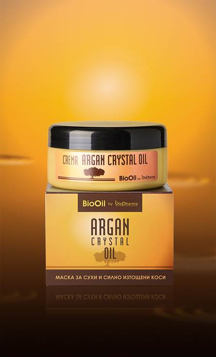 Argan Crystal Oil mask for dry and damaged hair