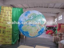 decorative led lighting inflatable globe balloon