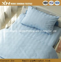 China Suppliers 50% Polyester 50% Cotton Dyed Fabric Satin Stripe Bed Sheet Fabric For Hospital and Hotel