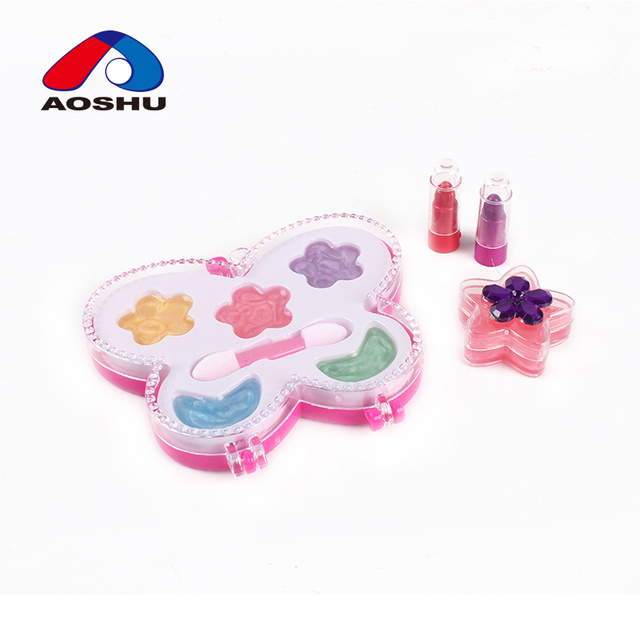 Butterfly shape fashion makeup set DIY child cosmetic with lipstick