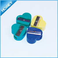 heart-shaped Promotion Plastic pencil sharpener
