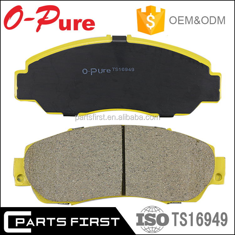 ISO9001/TS 16949 E-mark Wholesale Original Stocked Auto Car NAO Ceramic Disc Break Pad Factory For Toyota