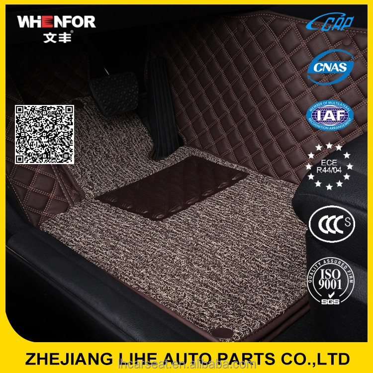Factory direct supply toyota highlander car mats 5d leather