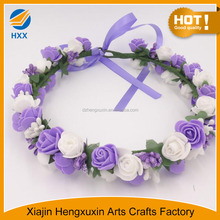 Hot Women Wedding Flower Wreath Crown Headband Floral Garlands Hair band