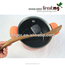 Factory Direct bamboo curved spoon with long handle for kitchen