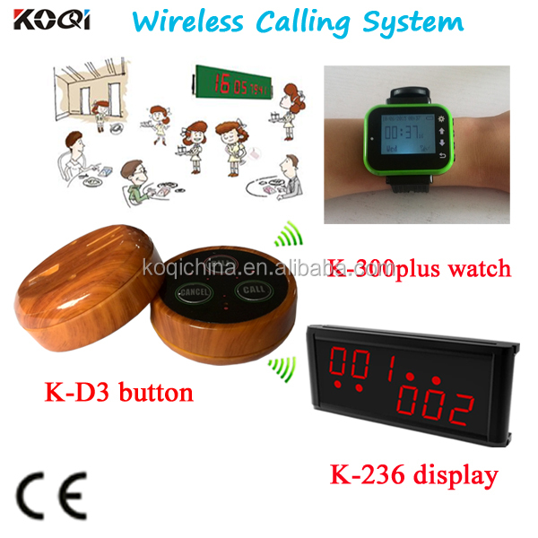 Wireless Waiter Calling System Restaurant Customer Display And Watch Remote Control Call Bell KOQI New Arrival Wireless Waiter