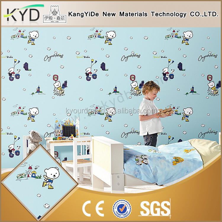 New luxury new design wallcovering for girls decorative wallpaper for kids room