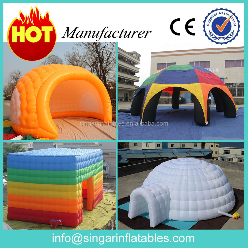 Promotional customized inflatable tent,durable large commercial tent inflatable